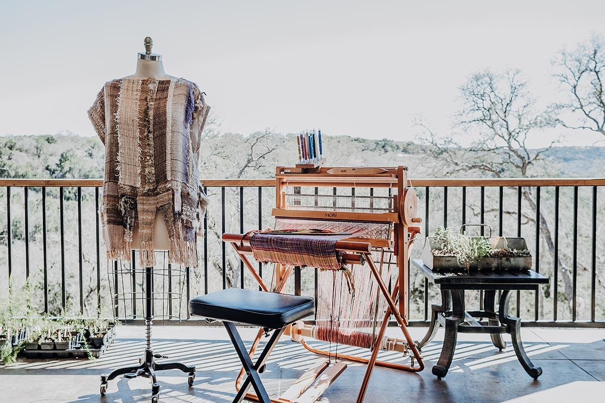 The new studio at Wimberley Valley Saori
