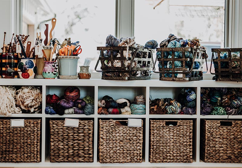 Yarns and limited edition warps for sale at Wimberley Valley Saori
